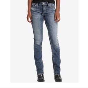 Silver Jeans  Elyse Slim boot mid rise curvy